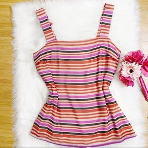 Cabi Banded Striped Cami Tank Size M